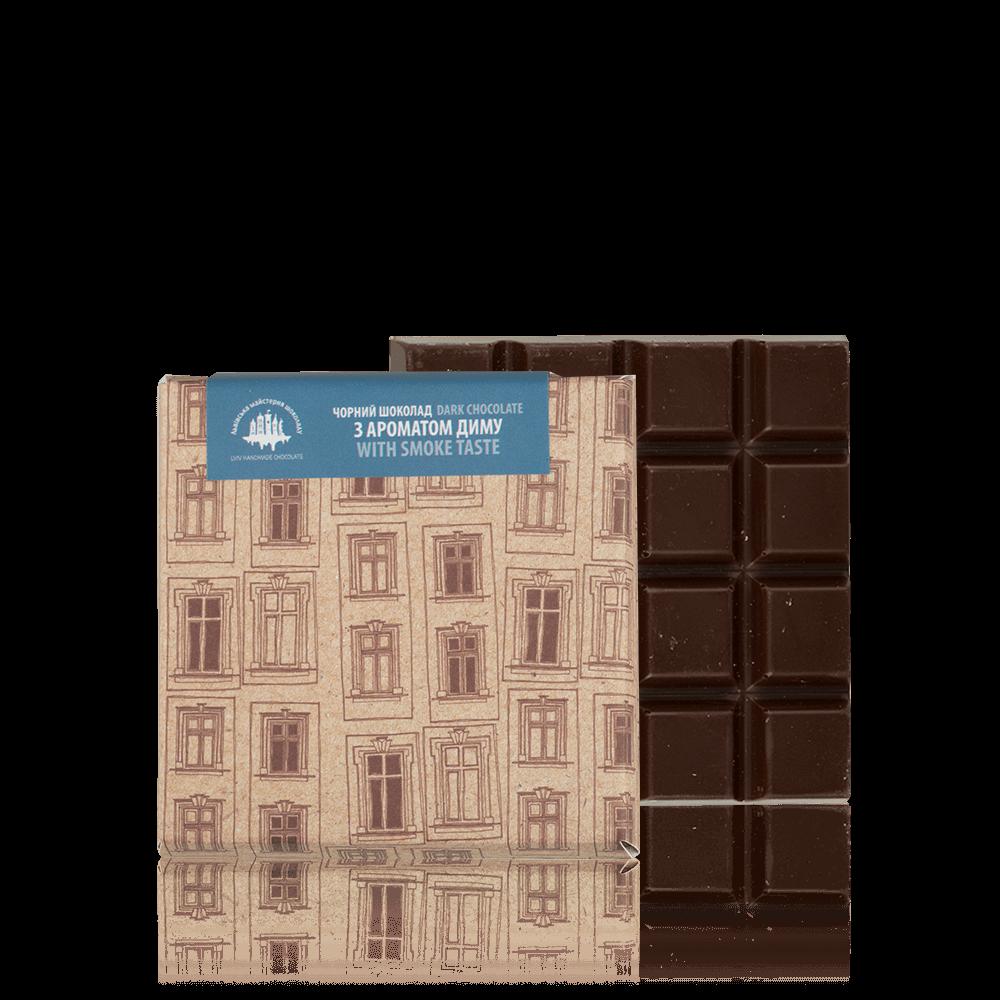 Чорний шоколад з ароматом диму, 90 г