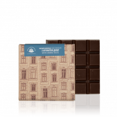 Dark chocolate with smoke flavour, 90 g