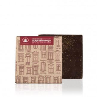 Чорний шоколад з перцем чилі та корицею, 90 г