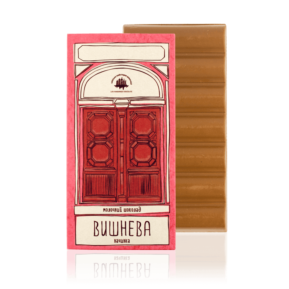 Milk chocolate with cherry filling, 165 g