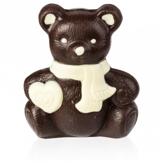 Bear with a Heart, dark chocolate, decorated
