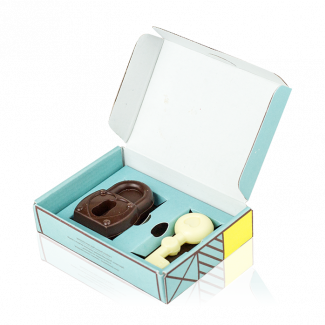 Set of chocolate figurines «The Key to Your Heart»