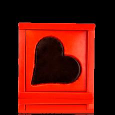 Серце-листівка з чорного шоколаду
