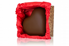 """Big Heart"" in a box, dark chocolate"