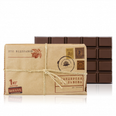 "Dark chocolate ""Parcel from Lviv"", Ecuador (Guayaquil) 66%, 1 kg"