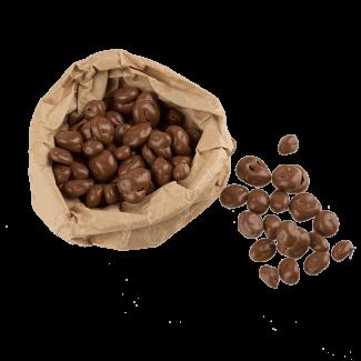 Milk chocolate coated raisins, 100 g