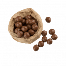Milk chocolate coated hazelnut, 100 g
