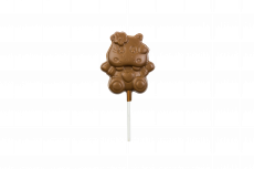Hippo lollipop, milk chocolate