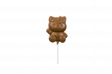 Cat lollipop, milk chocolate