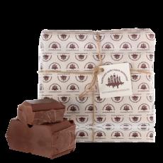 Молочний шоколад зі смаком карамелі 1кг