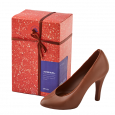 High-heeled shoe,  milk chocolate