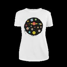 "White women's T-Shirt ""Space"", L"