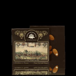 Чорний шоколад з мигдалем, 100 г