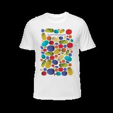 """White Men's T-shirt """"Lovely"""", S"""