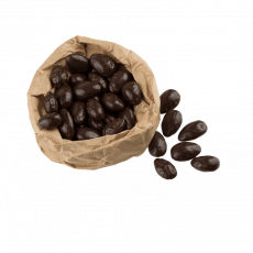 Milk chocolate coated cocoa beans 100g