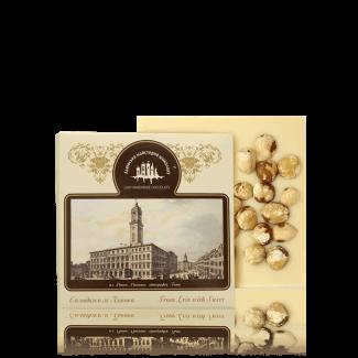 White chocolate with hazelnut, 100 g