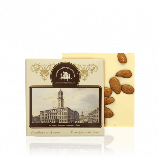 White chocolate with almond, 100 g