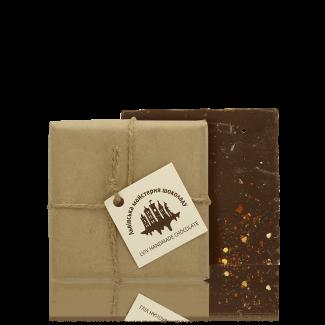 Чорний шоколад з перцем чилі, 100 г