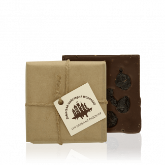 Чорний шоколад з вишнею, 100 г