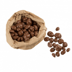 Milk chocolate coated raisins, 100 g
