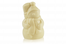 Сніговик з білого шоколаду