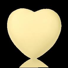 Серце велике з білого шоколаду
