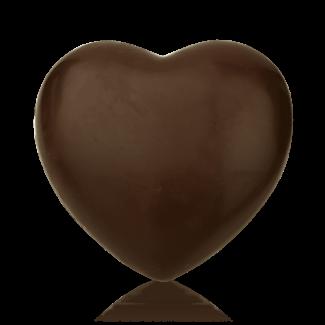 Серце велике з чорного шоколаду