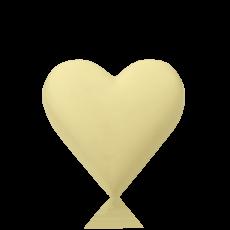 Серце середнє з білого шоколаду