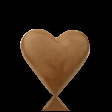 Серце середнє з молочного шоколаду
