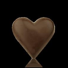 Серце середнє з чорного шоколаду