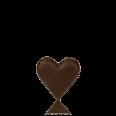 Серце мале з чорного шоколаду