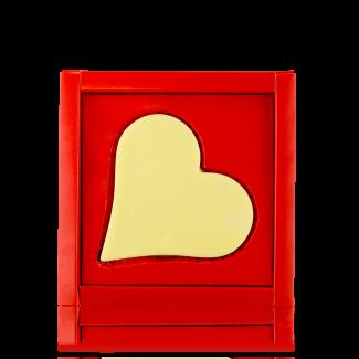 Серце-листівка з білого шоколаду