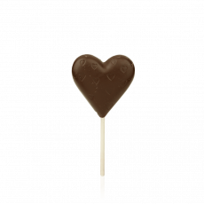 Heart Lollipop, dark chocolate
