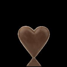 Сердечко з чорного шоколаду