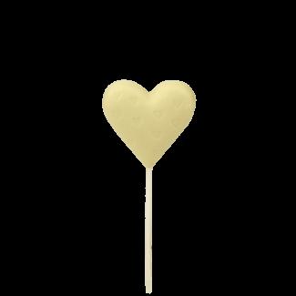 Сердечко на паличці з білого шоколаду
