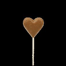 Сердечко на паличці з молочного шоколаду
