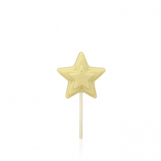 Star Lollipop, white chocolate