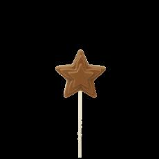 Зірочка на паличці з молочного шоколаду