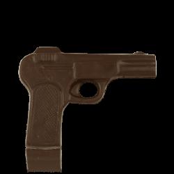 Пістолет з чорного шоколаду