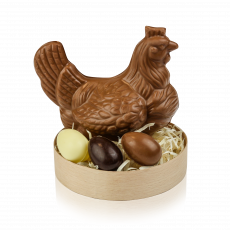 Hen Set, milk chocolate