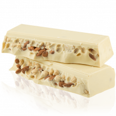 White chocolate with nuts