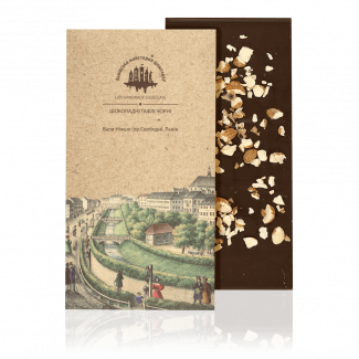 Dark chocolate with almond, 80 g
